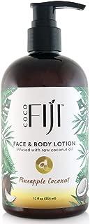 Coco Fiji, Coconut Oil Infused Face & Body Lotion, Pineapple Coconut 12oz