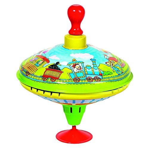 GOKI- Juegos de Viaje y de bolsilloNovedades en peonzasGOKIPeonza zumbadora con Mango de Madera, Multicolor (1)
