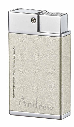 Personalized Porsche Design Baden Double Torch Flame Lighter with Free Engraving (Titan)