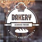 Boulangerie Cake Shop Décalque Murale Pain Frais Autocollant Mural Vinyle...
