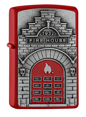 Zippo FIRE House - Red Matte - Spring 2017 Feuerzeug, Chrom, Rot, one Size
