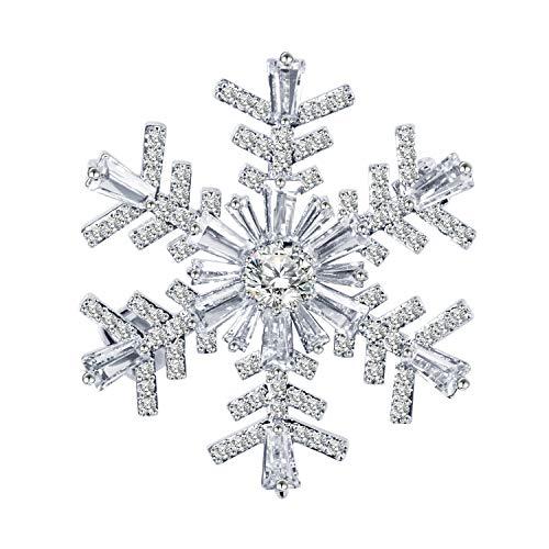 BiBeary Schneeflocke Broschen für Damen Zirkonia Weihnachten Geschenke Party Fashion