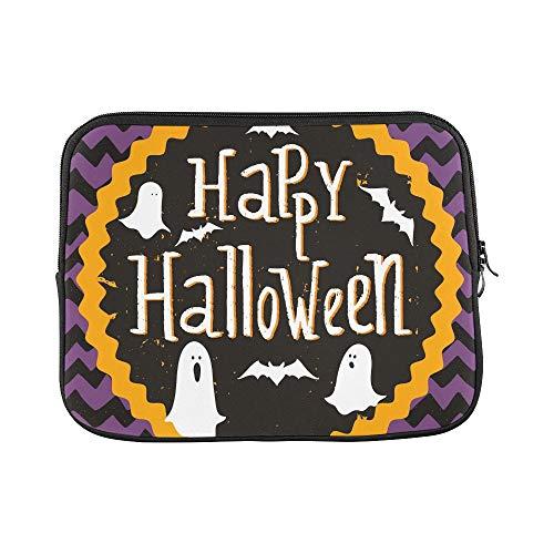 """JOCHUAN Design Personalizzato Carino invito di Halloween Modello di Biglietto d'auguri Manica Morbida Custodia per Laptop Borsa Pelle per MacBook Air 11""""(2 Lati)"""