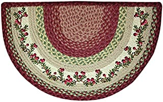 Earth Rugs 32-390 Cranberries Slice Rug, 18-Inch by 29-Inch, Burgundy/Crème/Green