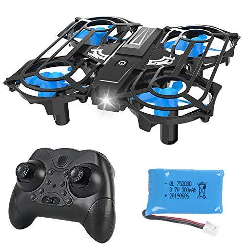 Delili Mini-Drone pour Les Enfants et Les débutants, Mini Grille Quadcopter Facile à Fly pour Les débutants