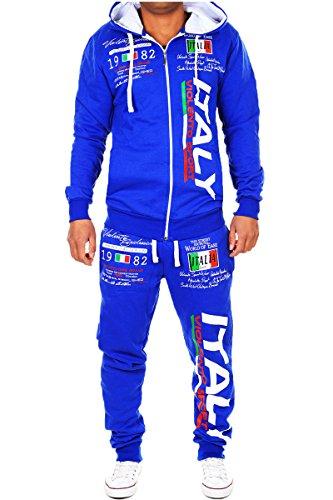L.GLife Herren Jogging-Anzug | Italien 2079 (S, Blau)