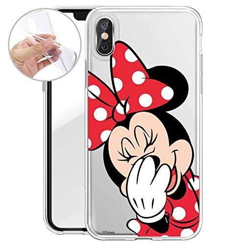 Finoo Handyhülle Geeigent für X/XS - Disney Handyhülle mit Motiv und Optimalen Schutz TPU Silikon Tasche Case Cover Schutzhülle - Minnie Mouse Lacht