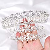 3Pack Rhinestone Crystal Tiaras and Crowns Headband For Women Birthday Pageant Wedding Prom Princess Crown, Silver