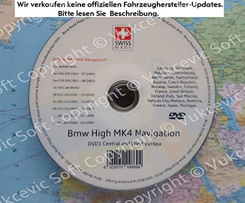 B M W HIGH Navigation MK IV DVD1 + Software Update V32 2019