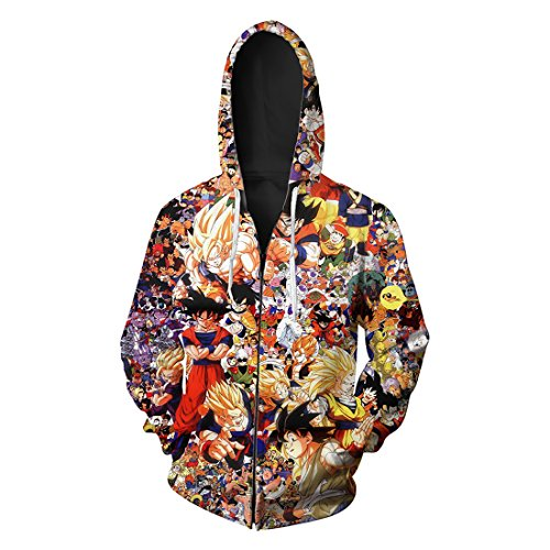 Chaqueta con capucha Dragon Ball