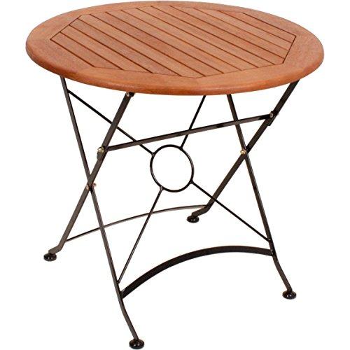 Gravidus klappbarer Gartentisch, ca. 80 cm Durchmesser