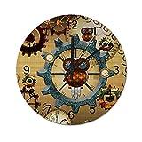 Reloj de Pared Vintage,Steampunk,Lindo búho con engra,Relojes de Pared de Madera...