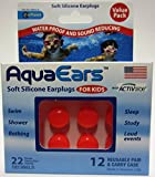 Aqua Ears Kids Soft Silicone Earplugs 12 Pair (Orange)