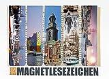 Geschenke Hamburg Magnetische Lesezeichen 5 Stück 10 x 2,5 cm Schule Page Seiten Marker Book Marks Mitgebsel Nostalgisch Hafen Schiff Michel