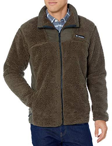 Columbia Men's Winter Pass Fleece Full Zip Jacket, Winter Fleece, Small, Olive Green, Black