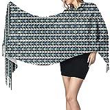 Lsjuee Tapisserie à franges, écharpe en cachemire, accessoires pour robes, dans les nichoirs bleus, enveloppes de qualité supérieure Pashmina, foulards en couverture chaude et douce