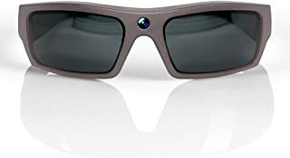 GoVision SOL 1080p HD Camera Glasses Video Recording Sport Sunglasses with Bluetooth Speakers and 15mp Camera - Warm Grey