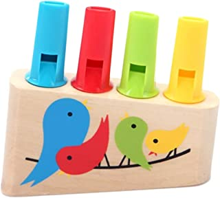 Uyuke Niños de Madera Rainbow Panpipe Whistle Toy Birds Whistling Musical Toys Instrument Learning Toys