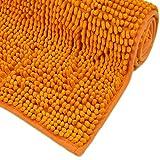 WohnDirect Badematte Orange • Badezimmerteppich zum Set kombinierbar, rutschfest & Waschbar • Badvorleger, WC Garnitur, Badteppich • OHNE WC Ausschnitt • 45x45cm