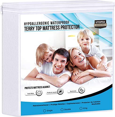 Utopia Bedding Protector de colchón Impermeable hipoalergé