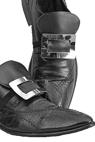 Schuhschnallen, Metall, silber Paar