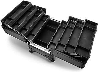 WSJTT. حقيبة صندوق مستحضرات تجميل كبيرة من 8 طبقات مع حجرات تخزين احترافية وصندوق للمكياج لتخزين المجوهرات وحقيبة قابلة لل...