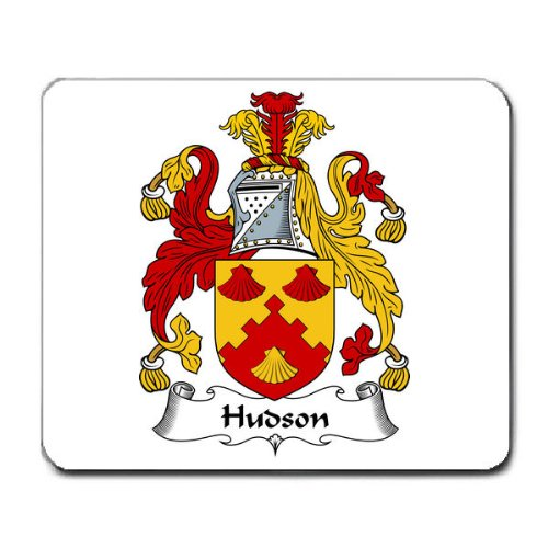 Hudson Family Crest Coat of Arms Mouse Pad