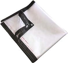 LIXIONG dekzeil transparant verdikt PE stofdicht winddicht isolerende regendoek, 21 maten (kleur: helder, grootte: 4x5m)
