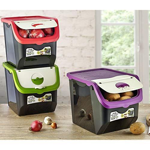 ORION GROUP Behälter Vorratsdose für Gemüse, Obst, Zwiebeln, Kartoffeln 12 L (Set)