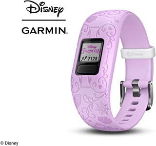 Garmin vívofit jr 2, Kids Fitness/Activity Tracker, 1-Year Battery Life, Adjustable Band, Disney Princess, Purple