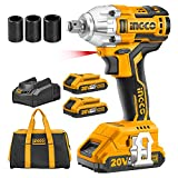 Best Impact Wrenches - INGCO 20V Brushless Lithium-Ion Impact Wrench with 2 Review