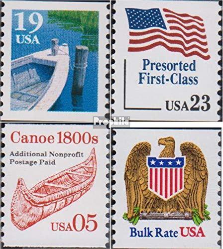 Prophila Collection USA 2160I,2181,2200,2201 (kompl.Ausg.) 1991 Fischerboot, Flagge, Kanu, Adler (Briefmarken für Sammler) Seefahrt