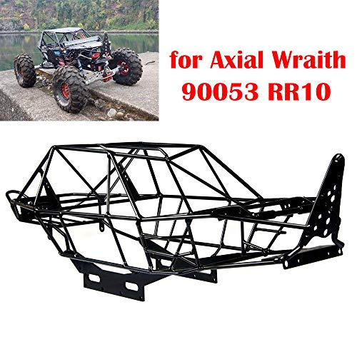 Que-T Metal Steel Frame Body Roll Cage for 1/10 RC Crawler Axial Wraith AX90053 RR10