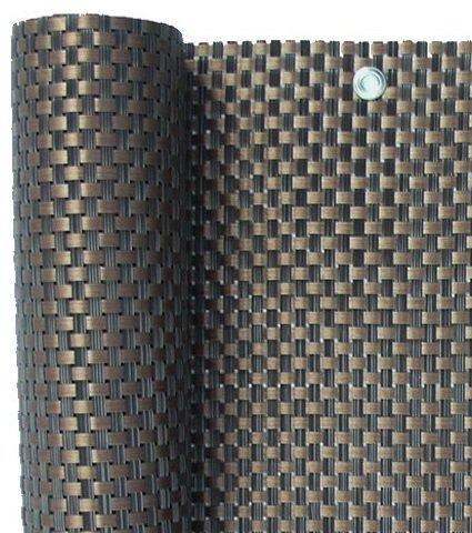 Smart Deko 78885 Kupfer 3x0,9m Polyrattan Sichtschutz, Balkonsichtschutz, Windschutz, Balkonblende, Garten Sichtschutz, (Kupfer) (300x90cm)