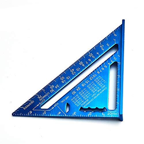 Regla De ángulo Multifuncional Sistema métrico Sistema imperial Multifunción Triángulo Regla de 7 pulgadas Milimeter Alto precisión triángulo placa Escala de aleación Regla De ángulo Digital