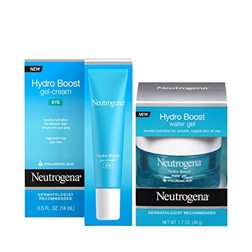 Neutrogena Hydro Boost Water Gel Facial Moisturizer with Hyaluronic Acid, 1.7 oz & Hydro Boost Hydrating Gel Eye Cream with Hyaluronic Acid, 0.5 oz