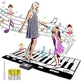 Innedu Alfombrilla da Piano, Grande Piano Mat (180 cm * 74 cm) 24 Teclas Alfombra Musical con 8 Instrumentos Musicales, Alfombra de Baile para Que Varias Personas Jueguen para Niñas y Niños