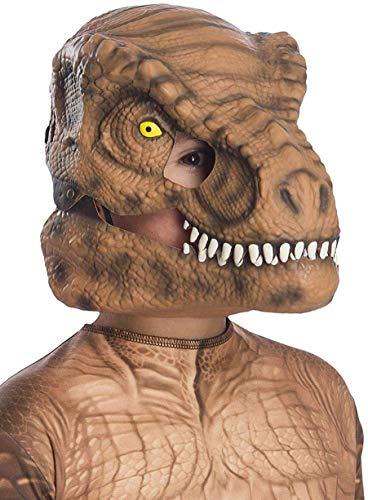 Rubie s Jurassic World: Fallen Kingdom Tyrannosaurus Rex - Maschera da dinosauro con mandibola mobile, taglia unica
