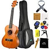 Eastrock Tenor Ukulele 26 Inch Professional Wooden Ukelele Instrument Kit for Adult with Gig Bag,EQ Tuner,Strap,Carbon String,Cleaning Cloth,Kazoo,Ukulele Picks Set(Tenor Ukulele,Ukulele)