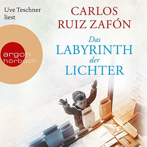 Das Labyrinth der Lichter     Friedhof der vergessenen Bücher 4              Autor:                                                                                                                                 Carlos Ruiz Zafón                               Sprecher:                                                                                                                                 Uve Teschner                      Spieldauer: 27 Std. und 25 Min.     1.958 Bewertungen     Gesamt 4,7