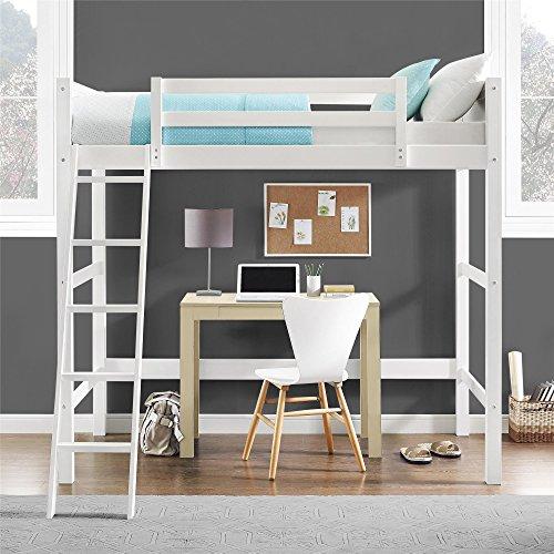 Dorel Living Moon Bay Loft Bed, Twin, White