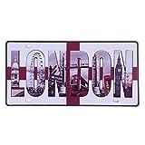 Eureya Placa de matrícula de coche LONDON para casa/cafetería/bar/restaurante/exposición, decoración de pared vintage 15,2 x 30,4 cm