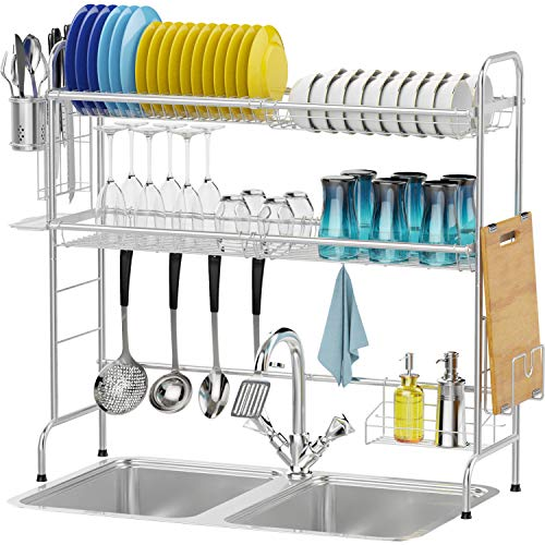 Packism 2 Tier Over the Sink Dish Drying Rack Now $39.54 (Was $79.09)