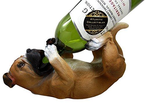 Atlántico Collectibles Fawn Boxer para botella de vino soporte para figura decorativa 10'de largo