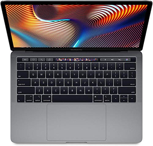Apple 13.3' MacBook Pro with Touch Bar, Intel Core i5 Quad-Core, 8GB RAM, 256GB SSD, Intel Iris Plus Graphics 655 - Mid 2019, Space Gray (Renewed)