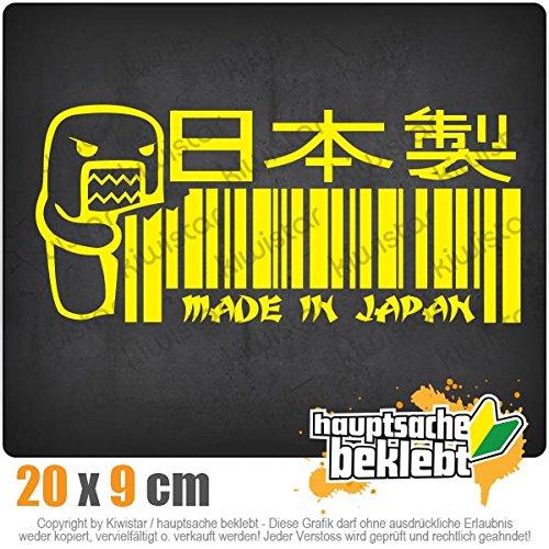Kiwistar Made in Japan Domo 20 x 9 cm IN 15 Farben - Neon + Chrom! Sticker Aufkleber
