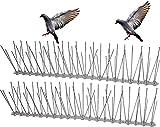 helpaccess dissuasori per piccioni, spuntoni per uccelli in acciaio inossidabile, repellente per uccelli, 5m (15 pezzi non installati)