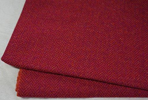 Authentic Harris Tweed Stoff 100% reine Wolle mit Etiketten.. 75cm x 50cm –-Nr....