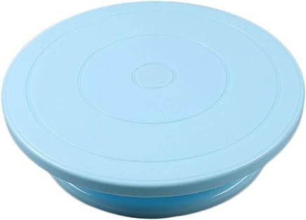 Jiyaru Cake Turntable Rotating Turntable Stand Platform Cake Decorating Stands Supplies Blue
