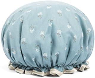 Shower Cap, Rural Windproof Shower Cap, Waterproof Shower Cap, Female Shower Cap, Shower Shower Cap, Cute Kitchen Oil-Proof Cap, Blue, Light Blue, Yellow, Pink (Color : Light Blue)